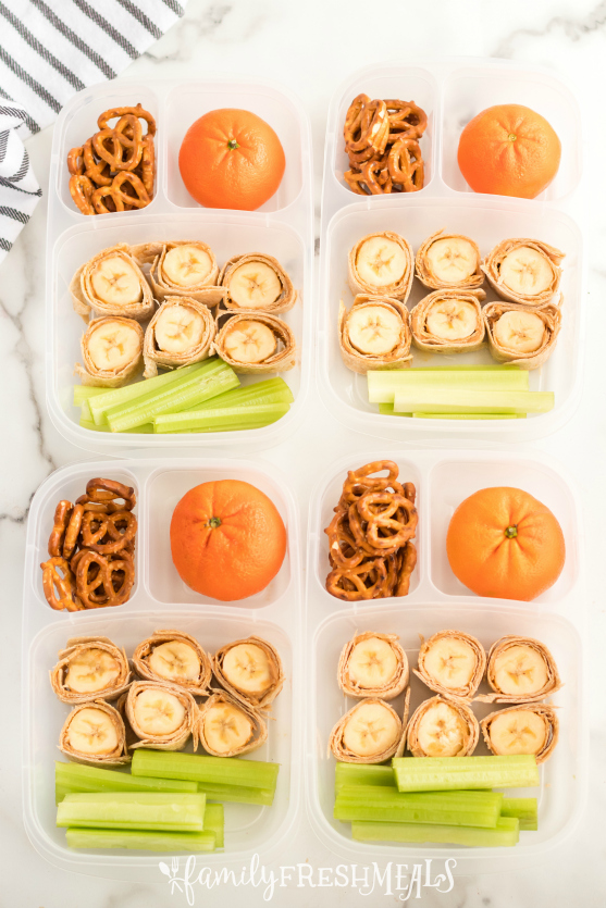 Banana Roll Up Lunch Box Idea - Family Fresh Meals