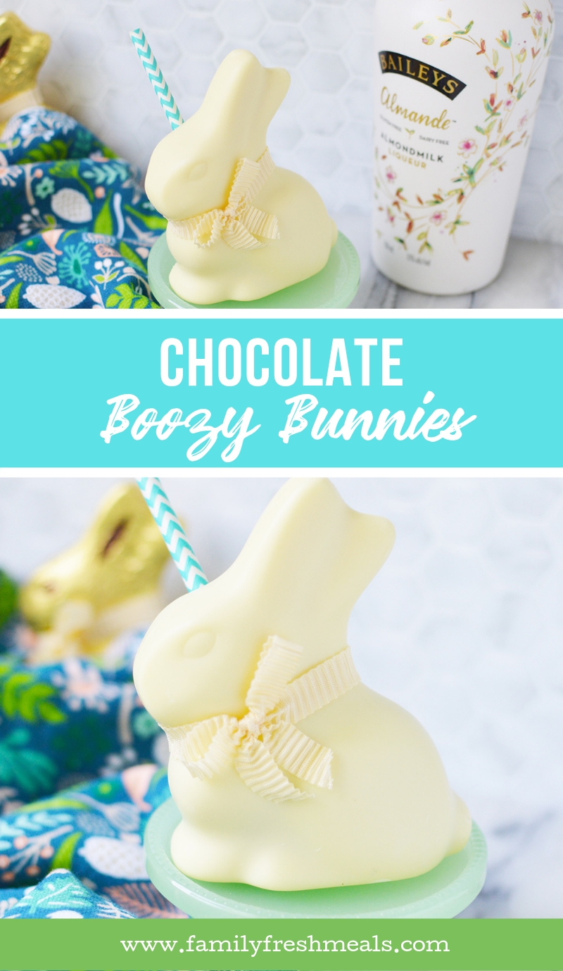 Chocolate Boozy Bunnies - #familyfreshmeals #chocolate #boozy #easter #dessert  via @familyfresh
