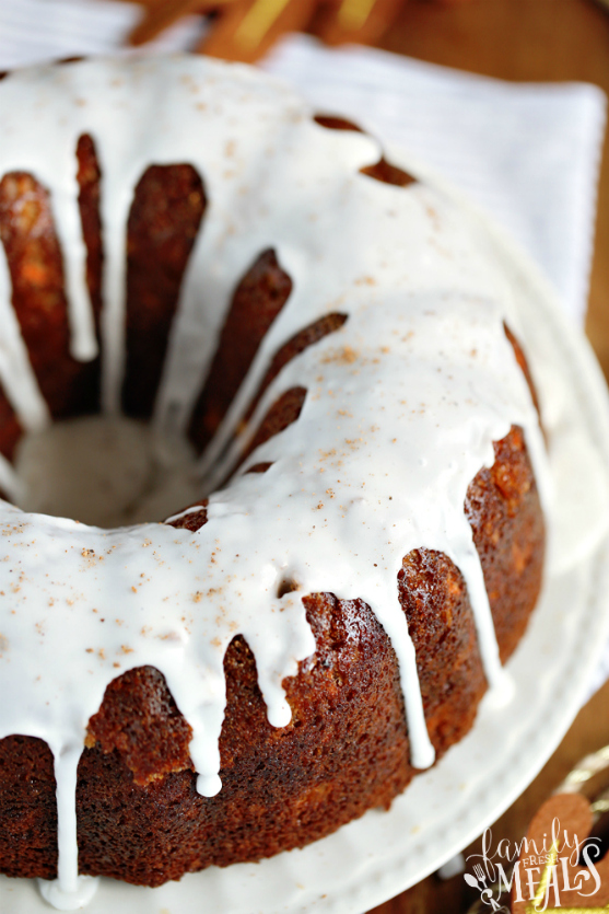 Cream Cheese Carrot Bundt Cake Recipe - Family Fresh Meals