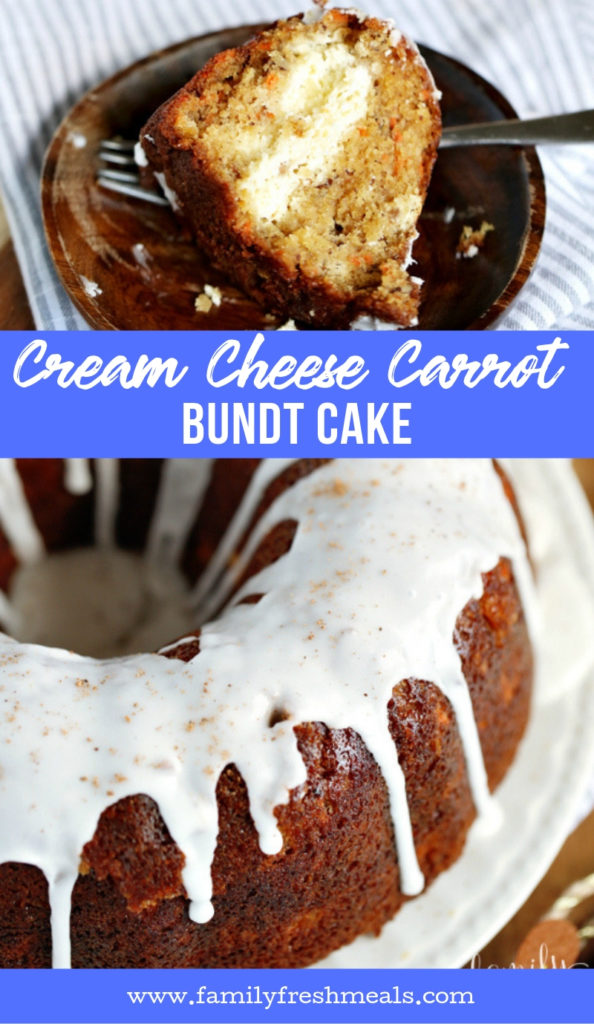 Cream Cheese Carrot Bundt Cake Recipe from Family Fresh Meals
