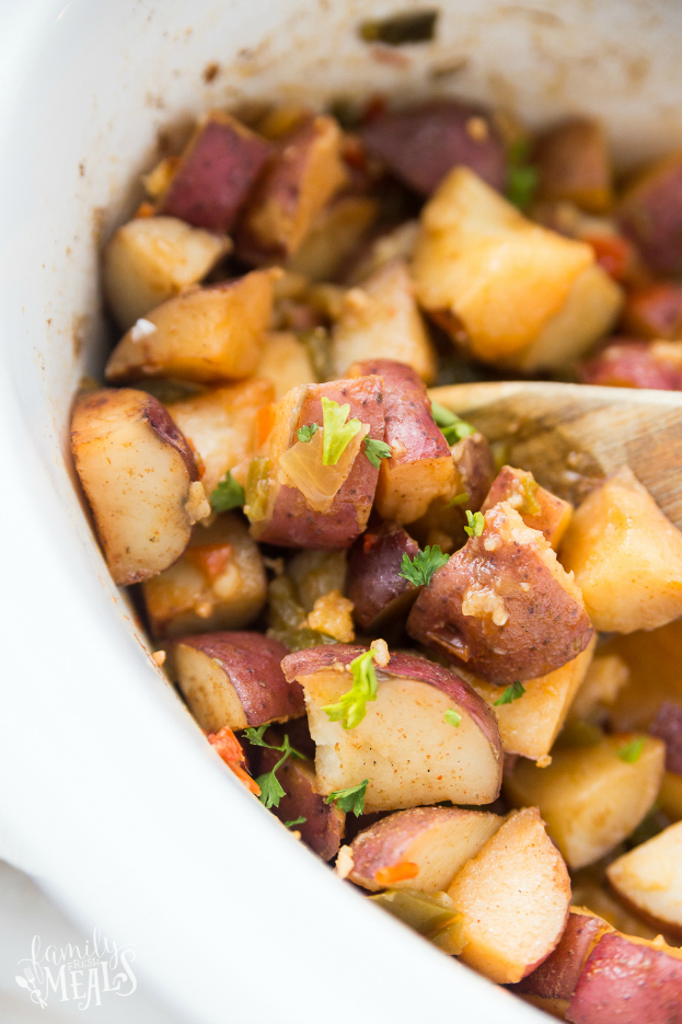 Crockpot Country Potatoes Recipe - Family Fresh Meals Breakfast Potatoes