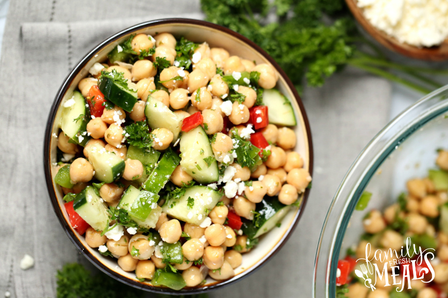 Cucumber Chickpea Salad - Family Fresh Meals Recipe