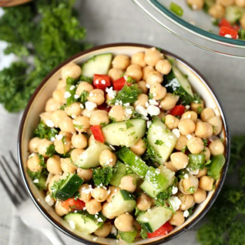 Cucumber Chickpea Salad Recipe - Family Fresh Meals