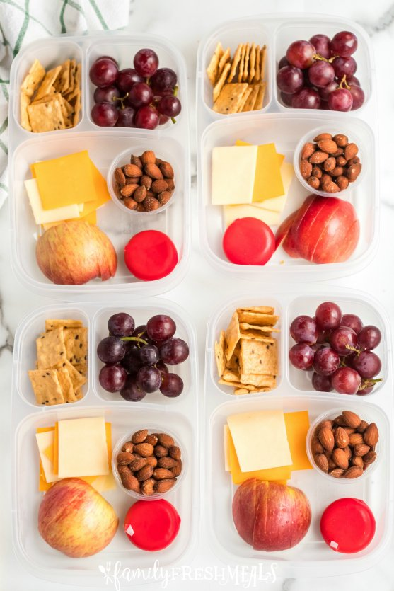 DIY Cheese and Crackers Lunchables - Family Fresh Meals Lunch Box Idea