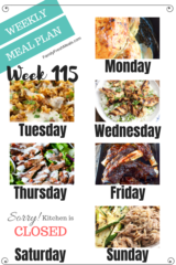 Easy Weekly Meal Plan Week 115 - Family Fresh Meals