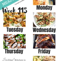 Easy Weekly Meal Plan Week 115