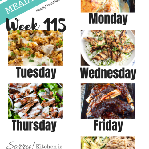 Easy Weekly Meal Plan Week 115 - Family Fresh Meals