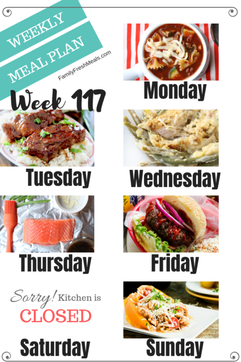 Easy Weekly Meal Plan Week 117