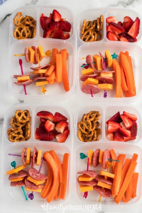 Salami Cheese Kabobs Lunchbox - School lunch idea - Family Fresh Meals