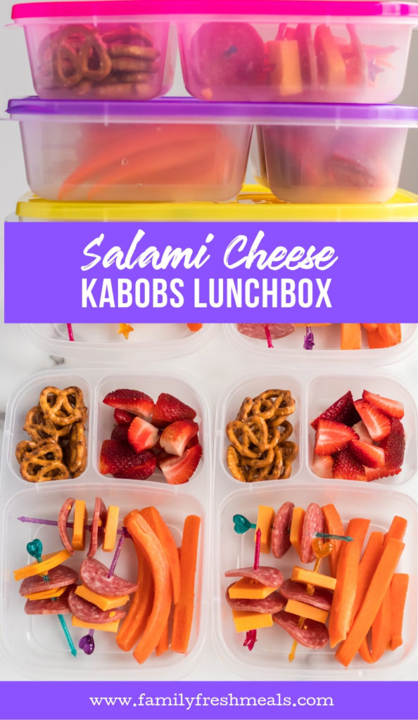 Salami Cheese Kabobs Lunchbox from Family Fresh Meals