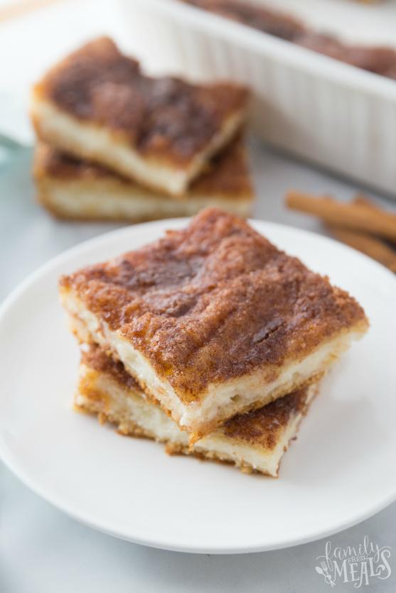 Churro Cheesecake Bars - Family Fresh Meals dessert recipe