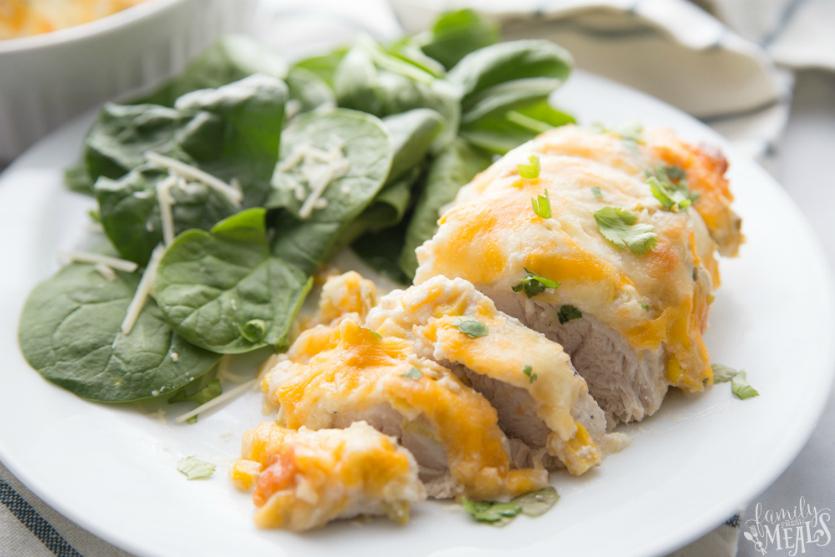 Creamy Fiesta Chicken Bake - Easy Chicken Casserole - Family Fresh Meals
