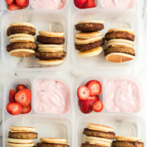 DIY Lunchable Brunchable Sausage Lunchbox