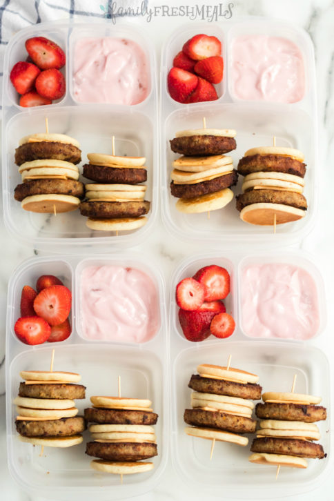 DIY Lunchable Bruchable Sausage Lunchbox - Family Fresh Meals