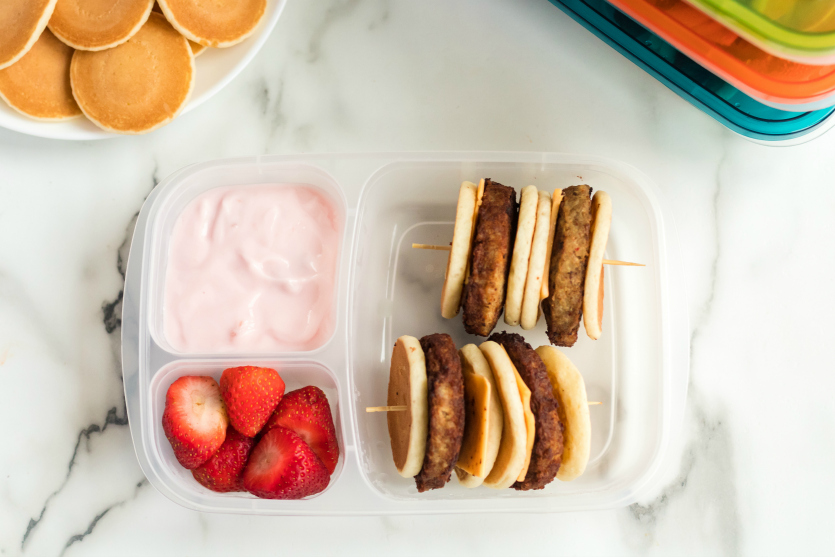 DIY Lunchable Bruchable Sausage Lunchbox - packed in lunchbox - Family Fresh Meals