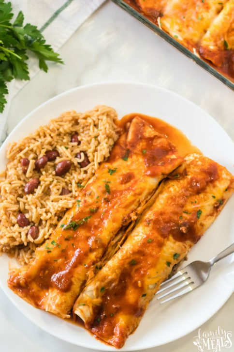 Easy Beef Enchiladas Recipe - Family Fresh Meals