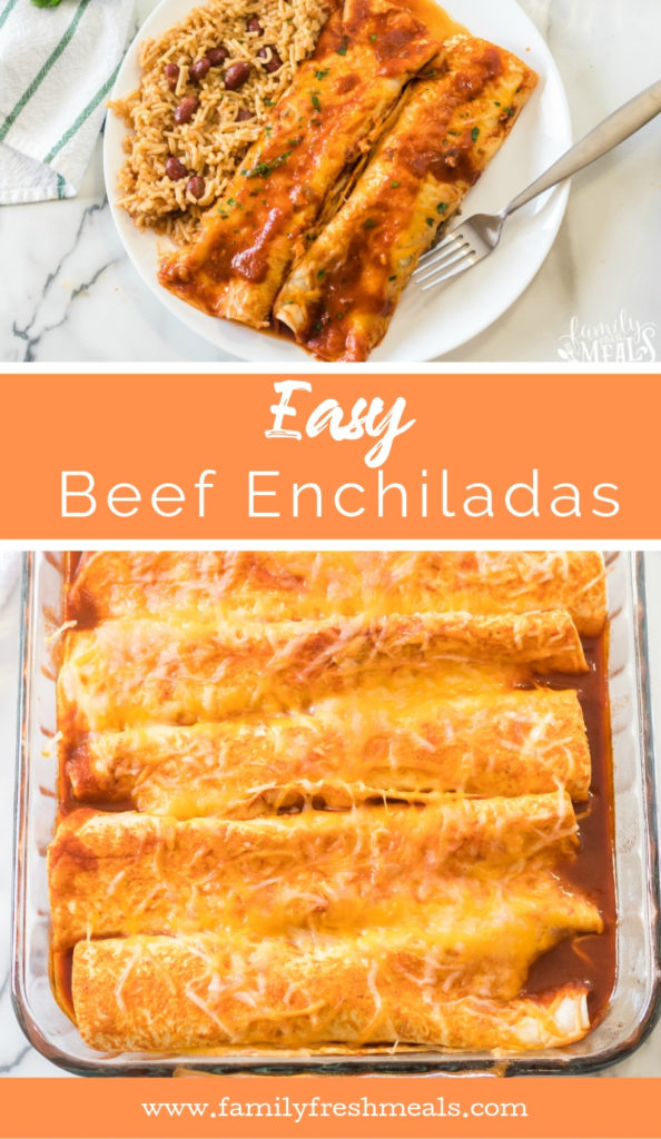 Easy Beef Enchiladas recipe - Family Fresh Meals Recipe