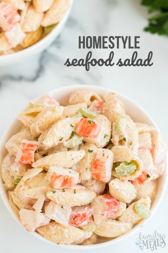 Homestyle Seafood Pasta Salad - Easy pasta salad recipe from Family Fresh Meals