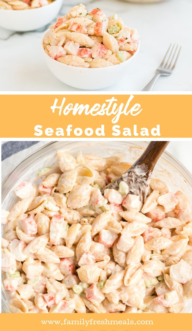 Homestyle Seafood Pasta Salad Recipe from Family Fresh Meals