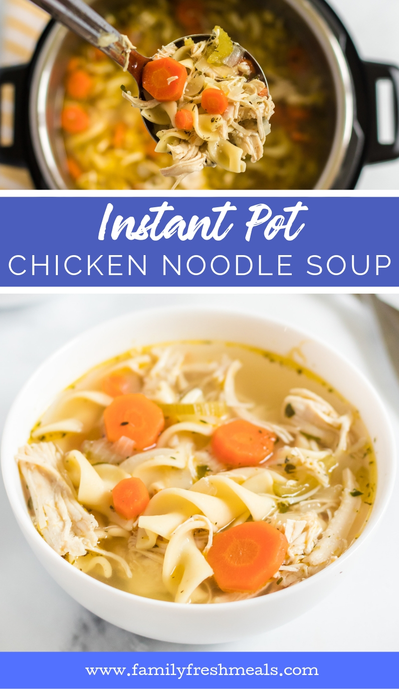 Instant Pot Chicken Noodle Soup from family fresh meals