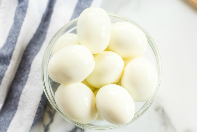 Instant Pot Hard Boiled Eggs - Perfect hard boiled eggs in a bowl - Family Fresh Meals