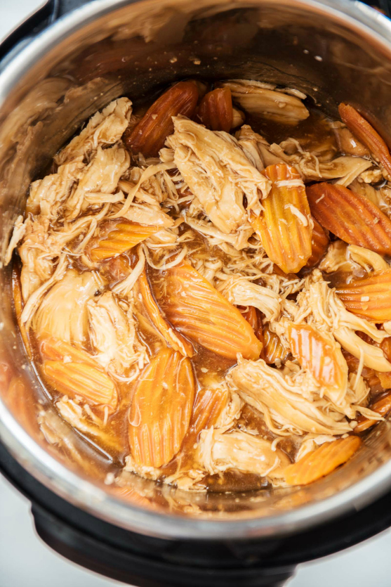 Instant Pot Teriyaki Chicken - Cooked Teriyaki Chicken in pressure cooker