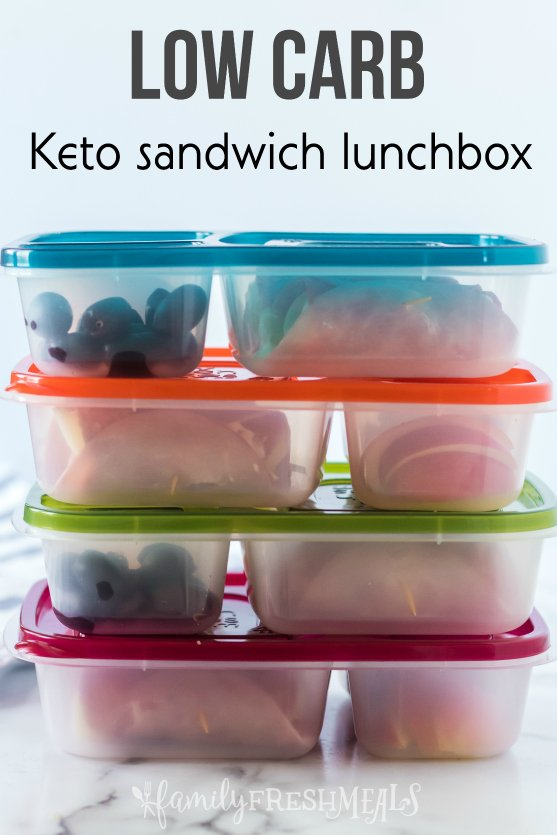Keto Low Carb Sandwich Lunchbox Ideas - Family Fresh Meals