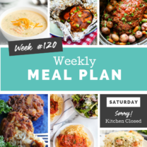 Easy Weekly Meal Plan Week 120