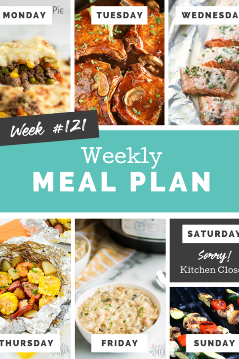 Easy Weekly Meal Plan Week 121 - Family Fresh Meals