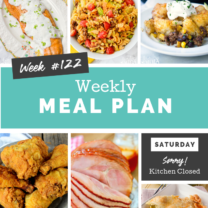 Easy Weekly Meal Plan Week 122