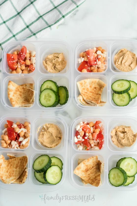 Mediterranean Lunch Snack Box - Family Fresh Meals