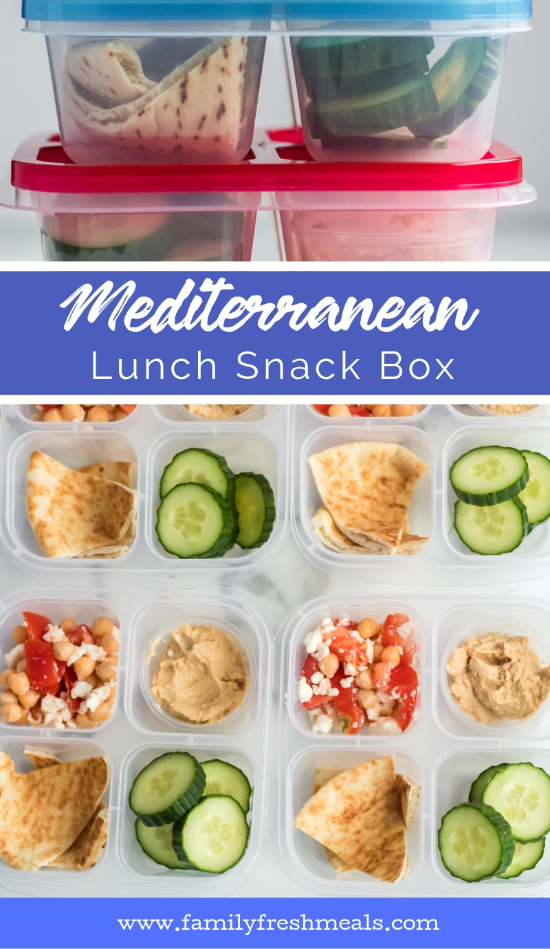 Mediterranean Lunch Snack Box -- Family Fresh Meals