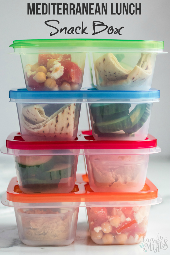 Mediterranean Lunch Snack Box Packed - from Family Fresh Meals