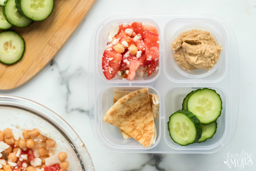 Mediterranean Lunch Snack Box Packed in snack boxes - Family Fresh Meals