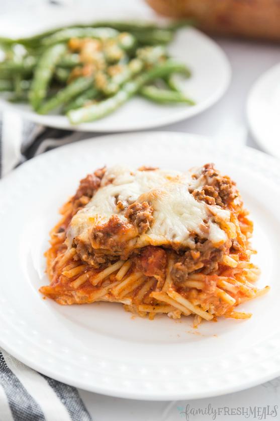 Million Dollar Baked Spaghetti Recipe - Family Fresh Meals