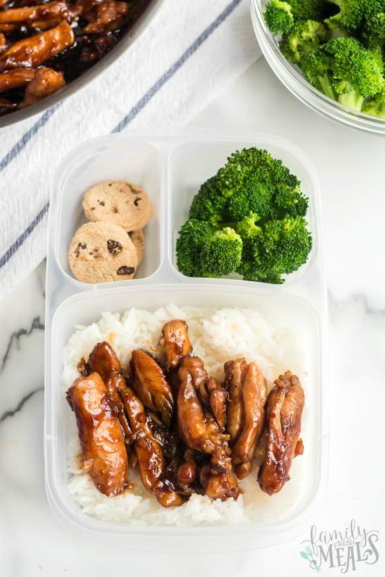 Teriyaki Chicken Lunchbox Idea - Packed for lunch - Family Fresh Meals