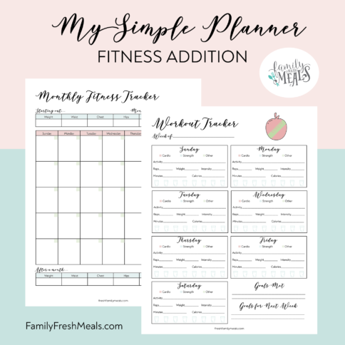 My Simple Planner Fitness Addition - printable
