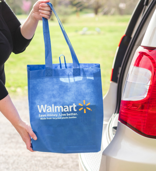 Asparagus Salmon Foil Packets - Walmart bag being placed in car