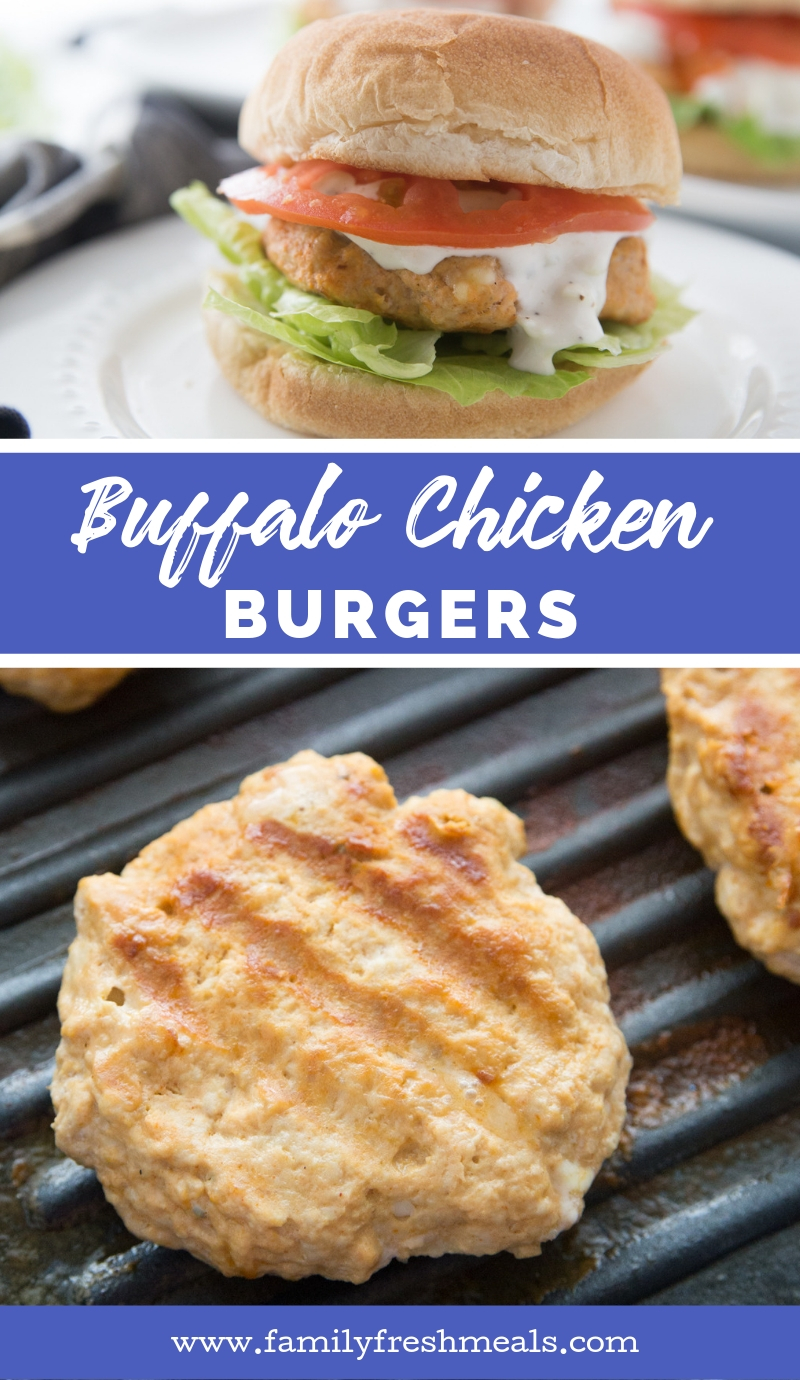 Buffalo Chicken Burgers from Family Fresh Meals Recipe