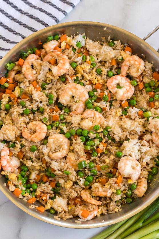 Easy Shrimp Fried Rice Recipe - Family Fresh Meals