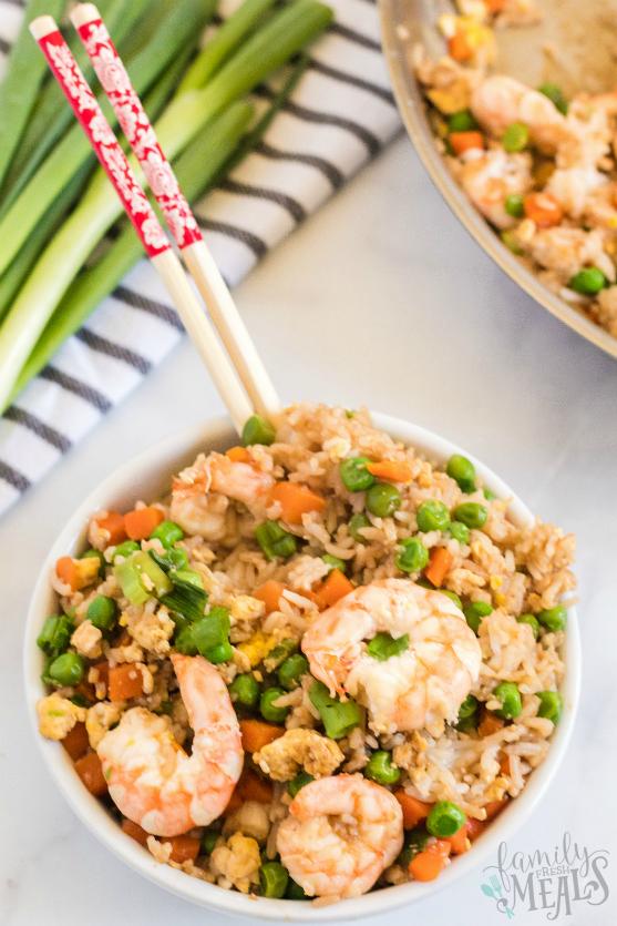 Easy Shrimp Fried Rice Recipe -- Family Fresh Meals