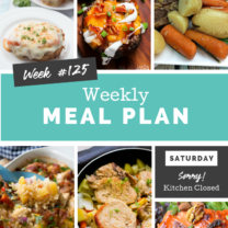 Easy Weekly Meal Plan Week 125
