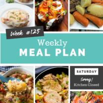 Easy Weekly Meal Plan Week 125
