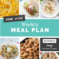 Easy Weekly Meal Plan Week 126
