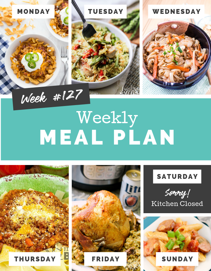 Easy Weekly Meal Plan Week 127