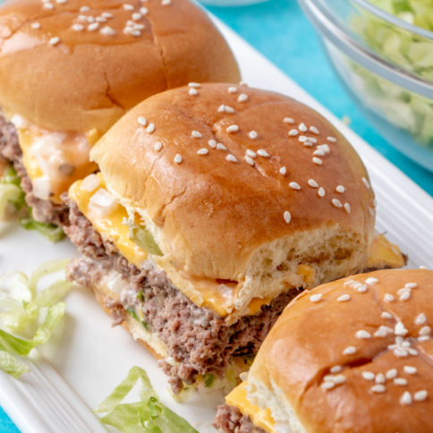 Big Mac Sliders - Family Fresh Meals Recipe
