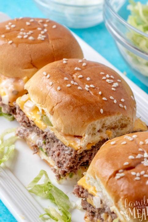 Big Mac Sliders - Family Fresh Meals Recipe