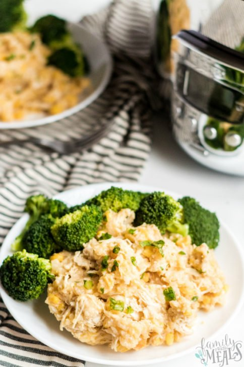 Crockpot Creamy Chicken and Rice - Family Fresh Meals