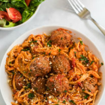 Crockpot Spaghetti and Meatballs