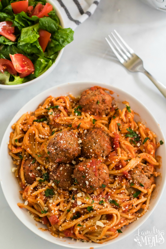 Crockpot Spaghetti and Meatballs - Family Fresh Meals Recipe